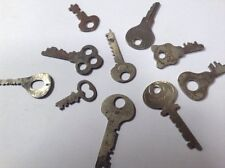 Lot Of 10 Antique Flat Skeleton Keys Padlock, Cabinet, Corbin, Eagle, Master F1