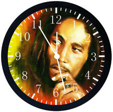Bob Marley Black Frame Wall Clock Nice For Decor or Gifts E165