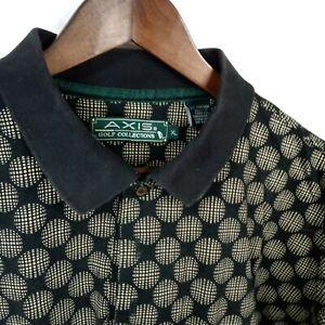Axis Mens Shirt Polo Golf Collection Navy 3 Button Short Sleeve Collar Size XL