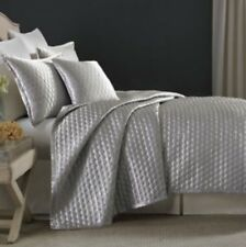 Candice Olson Ventura OGEE SILVER ICE Queen Quilted Duvet/Coverlet Duverlet