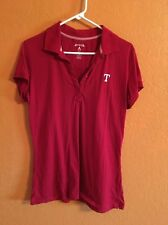 Texas Rangers  Polo Shirt - Ladies Red Xlg