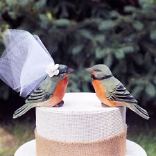 Spring Robin Wedding Cake Topper: American Robin Bride & Groom Cake Topper
