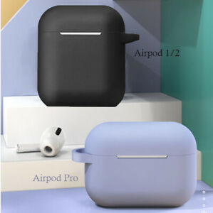 Shockproof Headphone Case Silicone Cover Gel Skin for AirPods 1 2 Airpods Pro