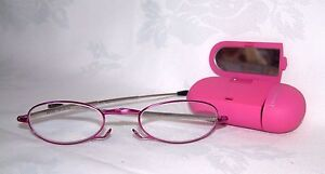 FOSTER GRANT - GWENDOLYN MATTE PINK - FOLDING - MICRO READERS -NEW RRP £30 +2.00