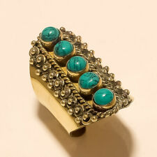Ring Fashion Jewelry Free Size Turquoise 925 Tibetan Silver Brass