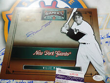 Willie Mays signed LEAF TIMELESS TREASURES 8x10 JSA COA autograph James Spence