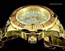 Invicta 47mm Grand Diver AUTOMATIC White MOP Dial 18kGold Plated Bracelet Watch