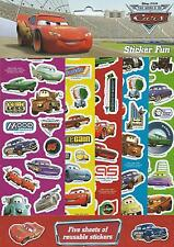 Disney Cars Party Supplies Gift Favour Sticker Fun 5 Sheets of Reusable Stickers