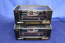 1-43 TWO Batmobile 1966 TV Series Elite LIMITED EDITION Hotwheels Item #1795