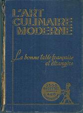 L'ART CULINAIRE MODERNE PELLAPRAT CURNONSKY CUISINE GASTRONOMIE