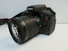 Canon EOS Rebel T6i 24.2MP Digital SLR Camera - Black w/ 18-55mm STM *No Reserve