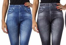 NEW SLIM N LIFT CARESSE JEANS EFFECT JEGGINGS/LEGGING SHAPEWEAR STRETCHY & SOFT