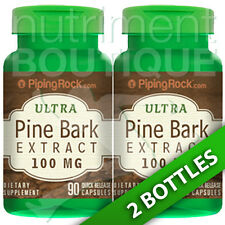 Pine Bark Extract 100mg 2X90Caps French Maritime Piping Rock