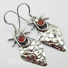 """.925 Solid Silver Earrings 1.8"""" ! Original CARNELIAN RETRO LOOK Jewelry"""
