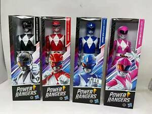 """12"""" Power Rangers Mighty Morphin Action Figure Blue Black Red Pink Toy Gift Kids"""