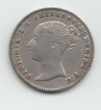 More details for rare 1851 groat fourpence 4d - great britain victoria