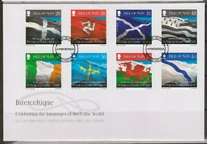 ISLE of MAN 2008 Interceltique/Celtic Languages/Flags/Europa '08 SG 1426/33 FDC