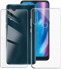 Cover Case Clear + Film Tempered Glass For Alcatel 1S 2020