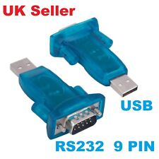 USB 2.0 A PORTA SERIALE RS232 DB9 9 Pin Maschio Convertitore Adattatore Win7/8/2000/XP MAC