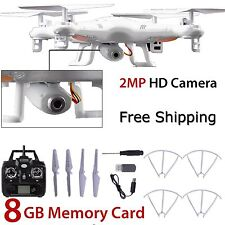 8GB X5C-1 2MP HD Camera 2.4Ghz 6-Axis  UAV RTF Quadcopter Drone UFO Gyro RC UK