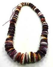 Spiny Oyster Beads Shell Genuine Deep Purple 14 -22mm Graduated 16 Inch Strand