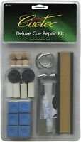 CUETEC BRAND DELUXE POOL TABLE BILLIARD CUE STICK TIP FIX TIPS REPAIR KIT DIY