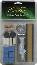 CUETEC BRAND NEW DELUXE POOL TABLE BILLIARD CUE STICK TIP TIPS REPAIR KIT DIY