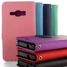 Protective Wallet Pouch Flip Stand Phone Cover Case for Samsung Galaxy J1 Ace