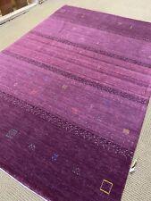 9' X 12' Stunning Tribal Oriental Rug new carpet Gabbeh  hand made Purple Woven