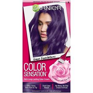 Garnier Color Sensation Hair Dye, Grape Expectations Intense Purple 5.21