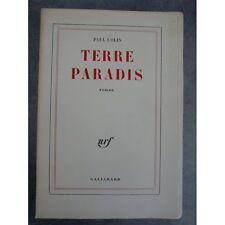 Colin Paul Terre Paradis Edition originale Paris Gallimard 1959 Sur papier pur f
