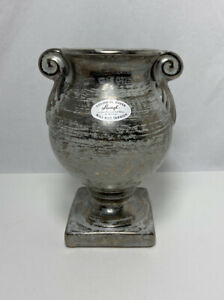 Vintage Stangl Colonial Silver Hand Painted Vase 2041