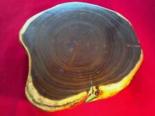 Bonsai tree pot stage Tamamoku annual ring circular moire pattern Wooden board