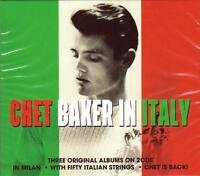 CHET BAKER IN ITALY - 3 ORIGINAL ALBUMS (NEW SEALED 2CD)