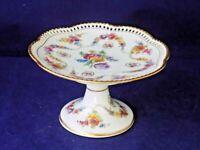 Dresden Flowers-Carl Schumann- Pedestal Peti Four Dish- 1890-1919