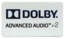 DOLBY ADVANCED AUDIO v2  STICKER LOGO AUFKLEBER 21x12mm (705)