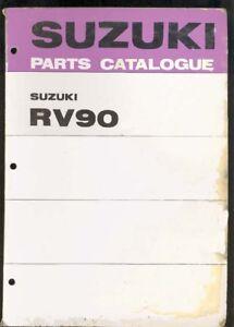 SUZUKI RV90 FACTORY PARTS MANUAL