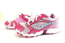 saucony Triumph 5 Lc Girls Toddler Leather Hot Pink Blue Sneakers Shoes 7.5 M