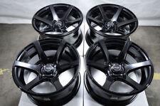 15x8 Wheels Honda Accord Civic Corolla Cooper Clubman Miata Black Blue Rim 4x100