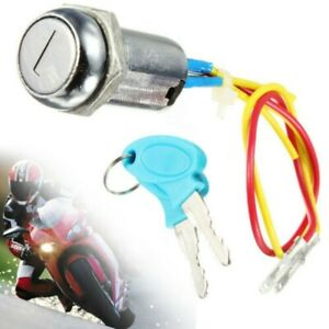 Universal Motorcycle Ignition Barrel Key Switch 2 Wire Suit Quad / Pit Bike UK