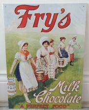 More details for fry' s milk chocolate - a perfect food early 1900s advert retro metal sign