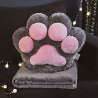 2020 Home Cat Claw Pillow Quilt Dual-purpose Office Pillow Blanket 2-in-1 New
