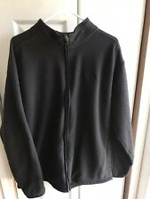 Men's The North Face Black Thermal Waffle Full Zip Jacket Fleece L/S Size XL