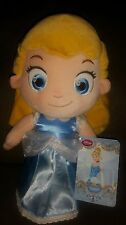 "Disney's ☆ CINDERELLA TODDLER 12"" PLUSH DOLL Adorable~BRAND NEW W/ TAG! !"