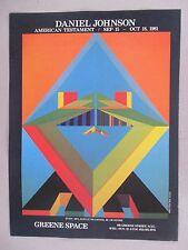 Daniel Johnson Art Gallery Exhibit PRINT AD - 1981