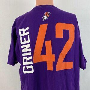 Britney Griner Phoenix Mercury  Jersey T Shirt WNBA Exclusive Basketball Size XL