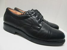BOSTONIAN Strada Men's Black Leather Cap-Toe Oxfords Size 11 1/2 M Made in italy
