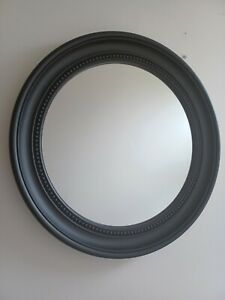 Round Black Beaded Detail Plastic Frame Wall Mirror Bed Room Hall way Wall Art