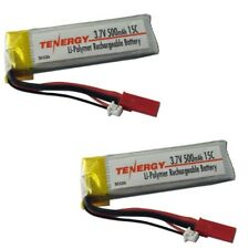 NEW Tenergy Blade 120 Sr / 120SR 3.7v 1s 500mah 15C LiPo Battery Pack (2) TEN...