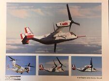 "BELL-BOEING V-22 Osprey Tiltrotor Aircraft 9"" x 12"" promotional print"